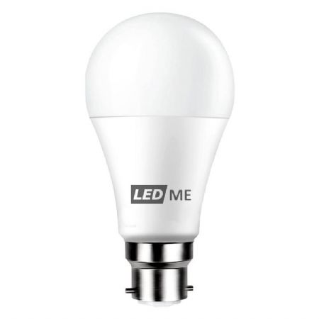 9W Energy saving LED bulb B22 bayonet in WARM WHITE 3000K (non-dimmable)